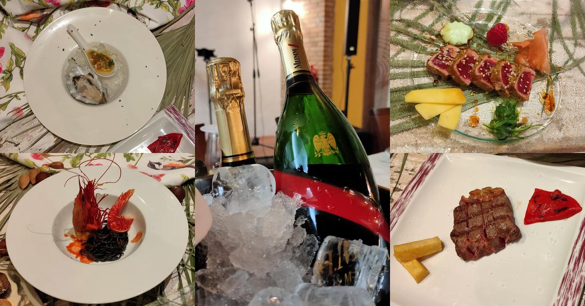 Cena con burbujas en Hotel Restaurante Casa pepe